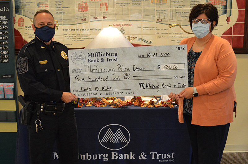 Donation for Child ID Cards Through Mifflinburg Police Department - October 2020